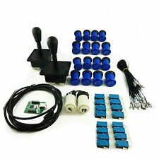 Kit Joystick Arcade 2 player Pear Buttons Americans Hollow Blue Mame USB