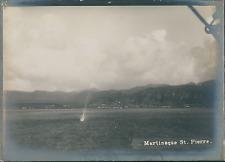 France, Martinique, Saint-pierre, vue sur les côtes  Vintage silver print,