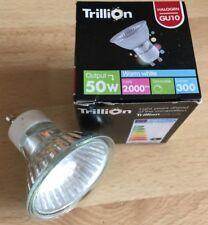 10 x NEW TRILLION 240v 50W GU10 2,000H Halogen Aluminium Reflector Bulb