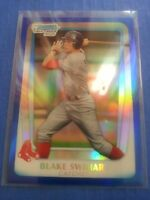 BLAKE SWIHART 2011 BOWMAN CHROME ( DRAFT BLUE )REFRACTOR BDPP86 RED SOX SP #/199