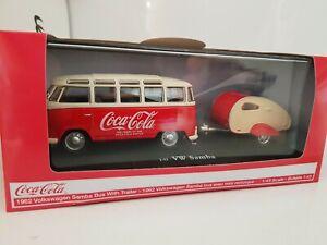 1:43 Coca Cola 1962 Volkswagen Samba Bus Kombi with Trailer. 467433