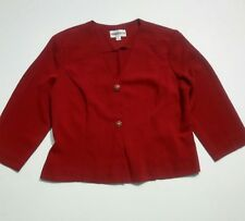 Danny & Nicole Women's Jacket Blazer Size 12P Red Vintage Look