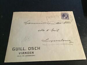 Luxemburg Sonderstempel auf Brief 1938 Vianden