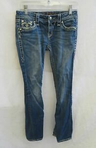 Women's Rock Revival Jenna Blue Bootcut Jeans Size 27