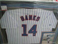 Ernie Banks ( Deceased ) Signed and Framed  Jersey PSA
