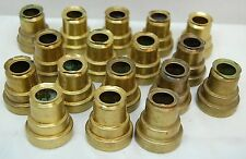 """17 USED BRASS WAXSAVER FOLLOWERS FOR 3/4"""" CANDLES, BURNERS, CHASERS #1"""