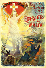 Art Ad Extracto de Malta Beer Drink Drinks Deco Poster Print