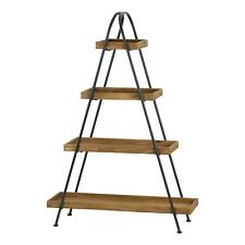 4 Tier Bookshelf Storage Rack Display Shelving Unit Plant Stand Metal 138cm