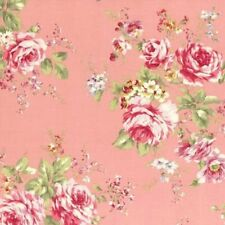 Cottage Shabby Chic Lecien Rococo Sweet Cotton Fabric Large Roses 31052L-20 BTY