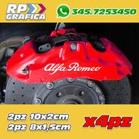 KIT 4 ADESIVI ALFA ROMEO sticker PINZE FRENO 147 159 MITO GIULIA STELVIO
