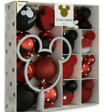 DISNEY Primark  Mickey Mouse 25 Christmas Baubles Tree Topper **NEW**