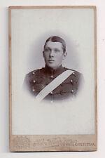Vintage CDV Unknown Swedish Soldier Karl Karlson Photo, Karlskrona