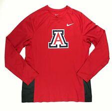 Nike Arizona Wildcats Basketball Disruption Long Sleeve Shirt Men's L Red 683361