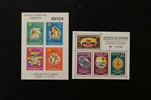 Colombia #c386 + #c419 1960-1961 VF MNH s/s 2017 cv$15.50 (v027)