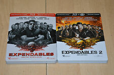 lot 2 coffrets Bluray EXPENDABLES 1 et 2 - édition collector métal / VF