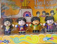 The Beatles Figure Set Paul Ringo George John Yellow Submarine Collectible Gift