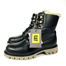 Caterpillar CAT Basis Leather Fur Lined Lace-Up Women's Boots UK 6 BNIB