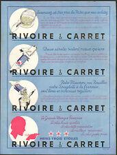 PUBLICITE PATES RIVOIRE ET CARRET LYON 1953