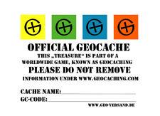 10 x DIN A8 Geocaching Sticker - English Stashnote Aufkleber Englisch Geocache