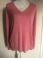 Hush Pink Fine Knit Long Sleeve Jumper Size Small