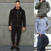 Eto Mens Slim Fit Hoodie Jacket Fleece Sweatshirt Zip Tracksuit Hoody Hooded Top