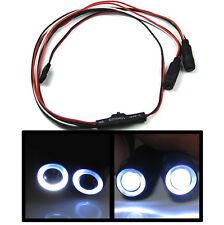 1/10 1/16 1/18 RC Car Angel Halo Eyes White LED Headlight Lights