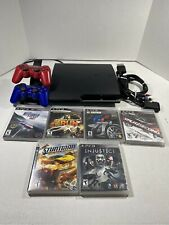 Bundle Sony Playstation 3 PS3 Slim 160GB CECH-2501A Console Controllers & Games