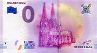 KOLNER DOM COLOGNE Germany 0 Euro Souvenir Note 2017 Series 1 Collectors Item