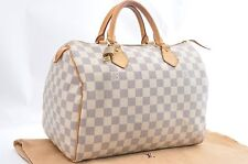 Authentic Louis Vuitton Damier Azur Speedy30 Hand Bag N41533 LV 33690