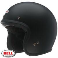 Bell Custom 500 Open Face Vintage Motorcycle Helmet Matt Black + FREE Carry Bag