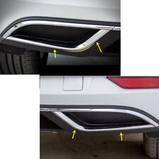 Steel Rear Exhaust Muffler Stripe Cover Trim 2pcs for Volkswagen Golf 7.5 2018