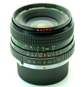 Super Paragon PMC II 28mm 2.8 Wide Angle Camera Lens Olympus OM Mount 810085