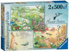 NOUVEAU! Ravensburger agréable pâturages 2 x 500 pièces Pays de la faune Jigsaw Puzzle
