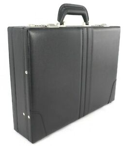 Executive Attache Briefcase Pu Leather Executive Case Expanding Business Bag BK