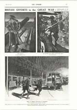 1917 Great War Lithographs Occupied Belgium Evacuees