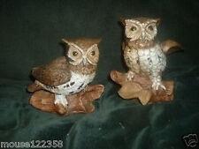 Lot of 2 Homco Owls Home Interiors Owl Figurines