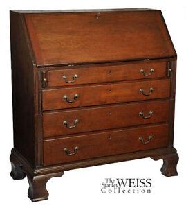 SWC-Chippendale Cherry Slant-lid Desk, CT, c.1780