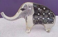 "LARGE 10"" VTG A. Palatnik Lucite Acrylic Optic Elephant Sculpture Figurine 2358"