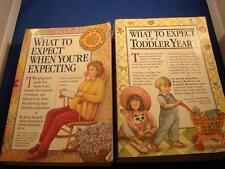 What To Expect When You're Expecting & The Toddler Years Both Books!!