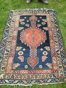 Genuine Persian Hamadan  woollen rug early 20th century