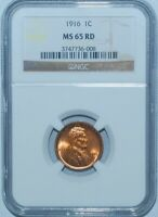 1916 NGC MS65RD Red Lincoln Wheat Cent