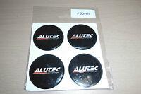 4 x 50mm Aufkleber *ALUTEC*Rad-Nabendeckel Nabenkappen Felgendeckel