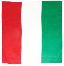 Bandana disegno bandiera italia forza azzurri Pizzaiolo 100% cotone 53x53cm