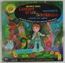 Colette 33 Tours 25 cm L'enfant et les sortilèges Maurice Ravel