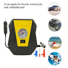 12V 100PSI Tyre Inflator Air Pump Electric Pressure Gauge For Car Bicycle Ball