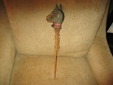 """18 1/2"""" Antique Papier Mache Political Donkey On Stick - Used in Parades"""