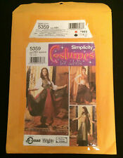 Simplicity 5359 Sewing Pattern Womens Costume Gypsy Fortune Teller Cut Size 10