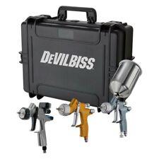 DEVILBISS 704514 TEKNA 3 PC GRAVITY FEED SPRAY GUN KIT W/ DV1 BASE DIGITAL