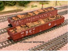 Hay Brothers 1940s / 50s CRUSHED AUTOS & SCRAP LOAD - Fits Micro-Trains 50' Gons