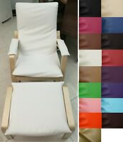NEW Faux Leather (Slip cover) NO ZIPPER-Tailor Made For IKEA Poang Arm Chair*Pb